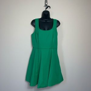 Jessica Simpson Green Lace Back Zippered Dress